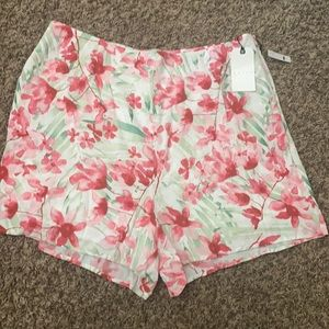 NEW LEITH Floral Watercolor Shorts 2x